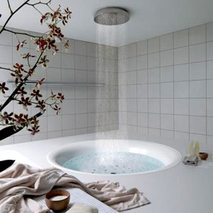 deszczownica w łazience