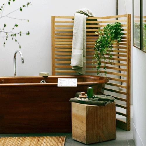 Drewno jako materiał dominujący (źródło: pinterest)