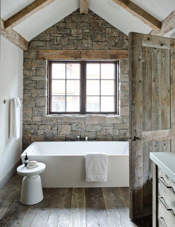 kamień w łazience (źródło: pinterest)