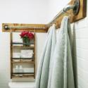 montaż wieszaka łazienkowego