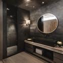 czarna łazienka aranżacje