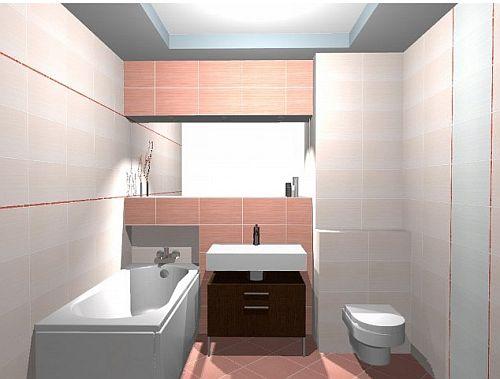 mała łazienka w beżowych płytkach