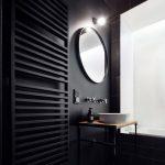 modna czarna łazienka