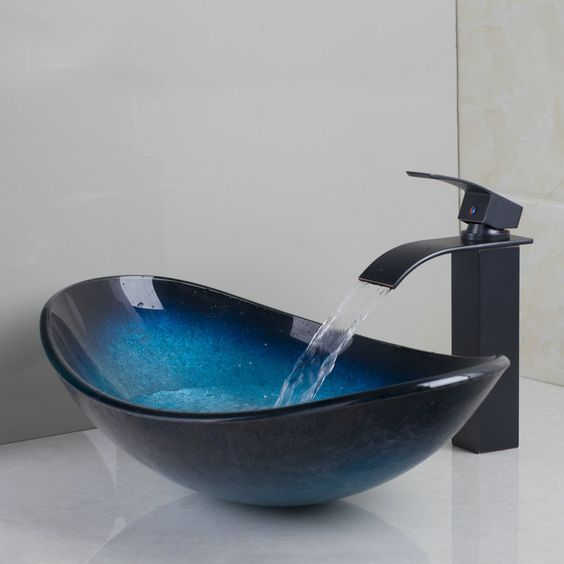 umywalka ze szkła czarna